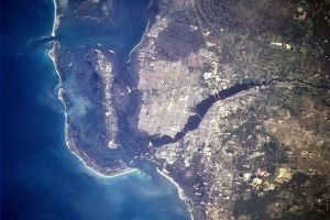 Satellite picture from Cape Coral