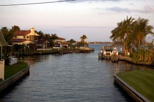Typical boat exit to the Caloosahatchee from Cape Coral