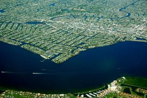 Cape Coral from a bird`s eye view